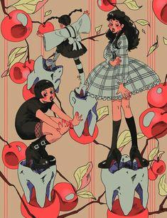 ─ rinitsuu (I do not own pin) Pretty Art, Cute Art, Aesthetic Art, Aesthetic Anime, Desenho New School, Arte Fashion, Arte Indie, Arte Obscura, Cool Drawings
