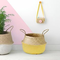 Our Natural Belly Basket is a favorite around here – handwoven, collapsible…