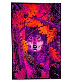 24 x fuzzy black light velvet poster. Find your inner wolf (or whatever your spirit animal is). Blacklight Tapestry, Psychedelic Effects, Psychedelic Decor, Flocked Trees, Black Light Posters, Your Spirit Animal, Thing 1, Cool Posters, Art Posters