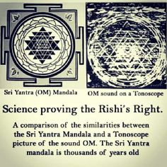 sri yantra , the sound OM