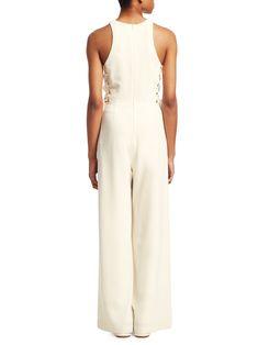 9a79304411f Women s White Crepe Wide-Leg Jumpsuit by White House Black Market ...