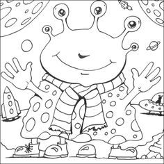 space pictures for kids to color | just been added to the online colouring section updates to the free ...