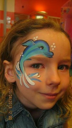 Dolphin Eye Face Painting Design