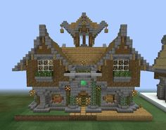 Fantasy Wooden Mansion 1 - GrabCraft - Your number one source for MineCraft buildings, blueprints, tips, ideas, floorplans!