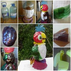 DIY Parrot Kesha from Plastic Bottles