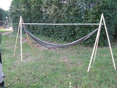 portable hammock stand  backpacking     how to make a portable hammock stand   camping hammock        rh   pinterest