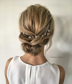 Looking for gorgeous wedding hairstyle? Whether a classic chignon, textured updo or a chic wedding updo with a beautiful details. These wedding updos are perfect for any bride looking for a unique wedding hairstyles... #weddinghairstyles
