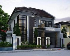 Trendy landscape design plans architecture dream homes Modern Exterior House Designs, Dream House Exterior, Exterior House Colors, Dream House Plans, Modern House Plans, Modern House Design, Modern Contemporary House, Exterior Design, Modern Zen House