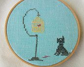 Vintage Needlework Embroidery and Applique Basket of Flowers Hoop Wall Hanging.  http://www.etsy.com/listing/105642594/vintage-needlework-embroidery-and#