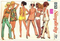 Simplicity 8153 Sassy Top, Pants & Bathing Suit 1969
