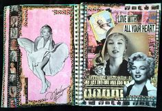 Marilyn Monroe Magazine People Mixed Media art journal pages