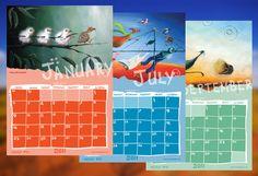 Australiana Artist Calendar Design