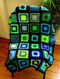 Colorful Baby Blanket Baby Afghan Blanket 31x36 by PhoenixSmiles