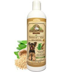 Oatmeal Dog Shampoo with Aloe Vera and Vitamin E - Hypoallergenic Dog Shampoo for Pets with Dry, Sensitive or Itchy Skin - All Natural Fragrance Free, 16 Ounces of the Best Dog Shampoo for Dry Skin ** Learn more by visiting the image link. (This is an Amazon affiliate link)