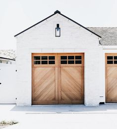 Contrast: I love the organic look that the wood looks against the white brick. This is a good example of contrast using texture/materials.