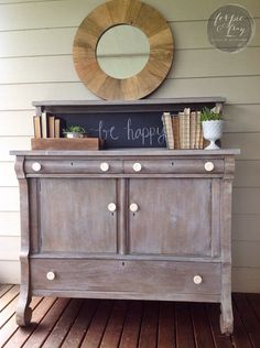 Buffet painted by Ferpie and Fray in General Finishes Winter White Glaze