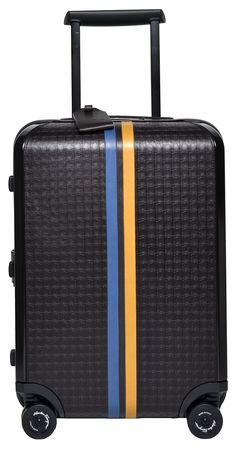 Salvatore Ferragamo Cabin Four Wheeled Trolley Carry-on (Caffe Brown)