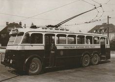 One of the first Prague trolley buses - 1936