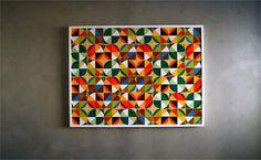 artifícios geométricos # 8, 2011 | estudo para painel de azulejo - Alexandre Mancini