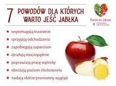 7 powodów dla których warto jeść jabłka Healthy Tips, Healthy Eating, Healthy Recipes, Health Diet, Health Fitness, Just Do It, Superfoods, Fitness Inspiration, Feel Good