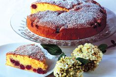 Morello cherry cake recipe, Listener – This beautiful cake is a great way to make the most of festive cherriesampnbsp - Eat Well (formerly Bite) Cherry Cake Recipe, Cherry Recipes, Breakfast Dessert, Dessert For Dinner, Cake Servings, Round Cakes, How Sweet Eats, Sugar And Spice, Cakes And More