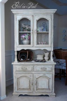 Chalk paint hutch from Girl in Pink