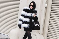 New_York_Fashion_Week-Fall_Winter_2015-Street_Style-NYFW-Eva_Chen_Black_And_White_Fur_Coat-