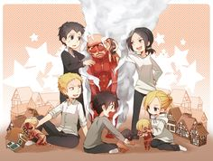 Aww. Lol! This is kinda cute.   Titan shifters playing with plushie versions of their Titans