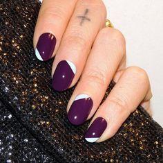 Fingernägel Trends moderne French Nails violett weiß