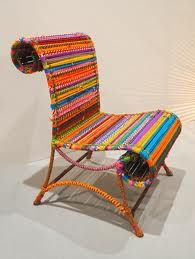 SAHIL SARTHAK - Athena Chair.. This colorful chair hand made from india :)