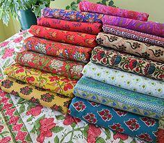Hand made fabrics, block print fabrics, hand loom fabrics, batik fabrics by yard from India