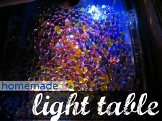 homemade light table and the wonder of water beads #weteach