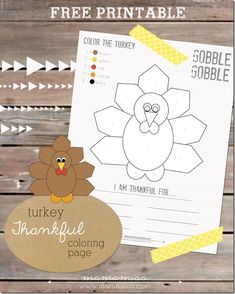 Turkey Thankful Coloring Page | @mamamissblog #freeprintable #thanksgivingforkids #colorbynumber