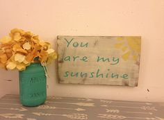 You are my Sunshine Hand Painted Sign Wooden by AlchemyHomeDecor