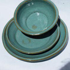 Rachel & Luke's Wedding Registry Ceramic plates and by jjpottery, $55.00