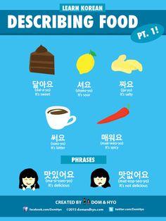 Describing food in Korean