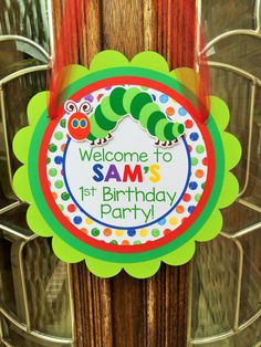 Very Hungry Caterpillar Birthday Party Door by sweetheartpartyshop