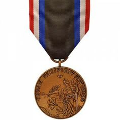 The Cuban Pacification Medal - Marine Corps is given to members of the Armed Forces that have served in the U.S. occupation force, garrisoned on the island of Cuba between the dates of October 6th, 1906 and April 1th, 1909 or naval personnel afloat and ashore from September 12th, 1906 to April 1st, 1909. The medal was conceived to distinguish service during the withdrawal of the U.S. military presence in Cuba as an aftermath of the Spanish-American War.