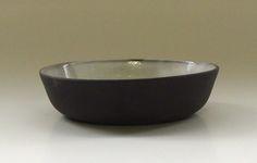 Diana Ferreira Ceramics. Low ramekin. Black clay body, milky white glaze inside.
