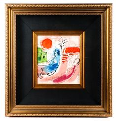 "Marc Chagall, ""Maternity with Centaur"", Signed : Lot 847. Hammer Price- $1,000"