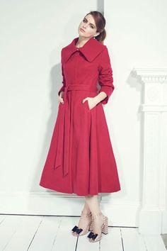 Ingrid Raspberry Swing Coat