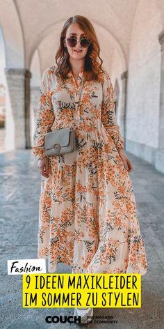 Maxikleider sind perfekt für die ersten warmen Tage. nicole_rosegold und viele mehr zeigen dir hier, wie sie Kleider mit Blumenmuster feminin stylen. #fashion #sommer #sommeroutfit #kleid #maxikleid #COUCHstyle