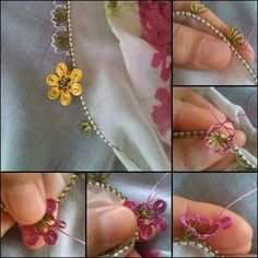 İğne oyası - Turkish Needle Lace Bead Crochet, Crochet Necklace, Crochet Unique, Diy Broderie, Diy And Crafts, Arts And Crafts, Needle Lace, Tatting, Needlework