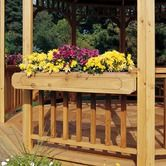 Features:  -Intricately carved cedar.  -Includes molded liner.  -Constructed from cedar.  -Powder Coated Finish: No.  -Gloss Finish: No.  -Installation: Wall-Mounted.  Product Type: -Planter.  Country