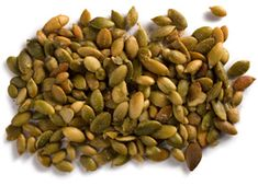Wasabi and Coriander Pumpkin Seeds Recipe Raw Pumpkin Seeds, Roasted Pumpkin Seeds, Savory Pumpkin Recipes, Savory Snacks, Nuts And Seeds Recipes, Wasabi Recipes, Gourmet Recipes, Healthy Recipes