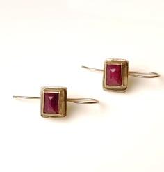 $70 Silver Ruby Earrings