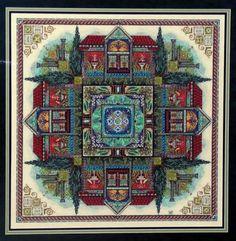The Pompeji Garden Mandala da Martina Rosenberg - Schemi Punto Croce - Ricamo…