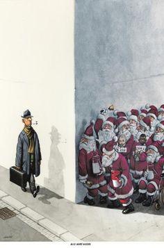 """Haderer-Karikatur vom 6. Dezember 2014: """"Alle Jahre wieder"""" Mehr Karikaturen auf: http://www.nachrichten.at/nachrichten/fotogalerien/cme14862,1174677 (Bild: Haderer)"""