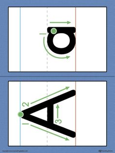 Alphabet Letter Formation Card: Letter A Printable in Color Worksheet.Help your child to build handwriting confidence by teaching the correct letter formation guidelines from the very beginning with this Alphabet Letter Formation Card: Letter A.