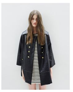 black stripes. leather. airy.